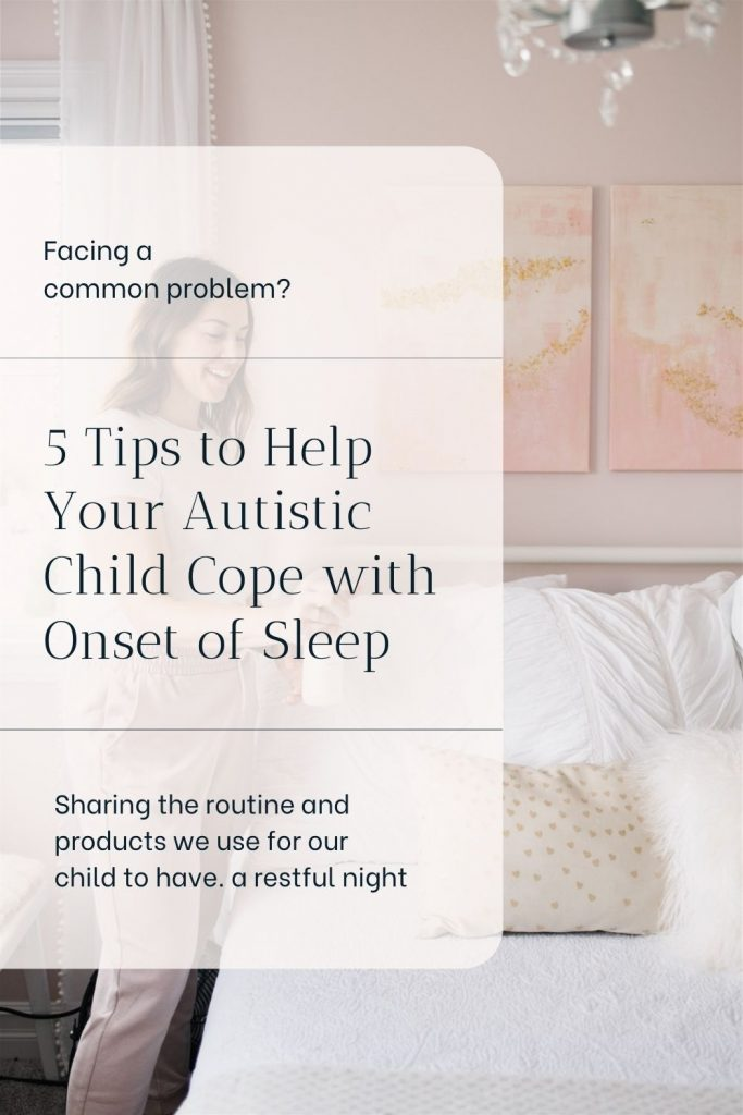 woman sprays bed with essential oils to help with sleep disorder
