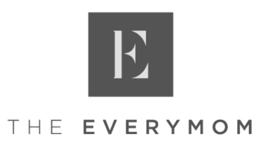 Greyscale image of The Everymom Logo